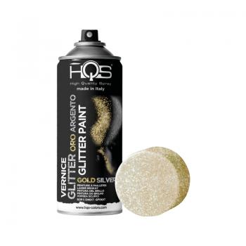 Vernice spray effetto glitter 8 tonalità 400ml Hqs