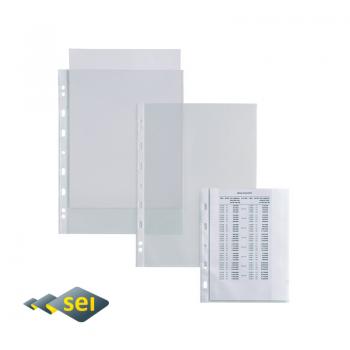 Busta forata trasparente liscio 100 µm A4 22x30 Atla T100...