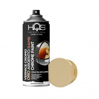 Vernice effetto cromato 3 tonalità spray 400ml Hqs