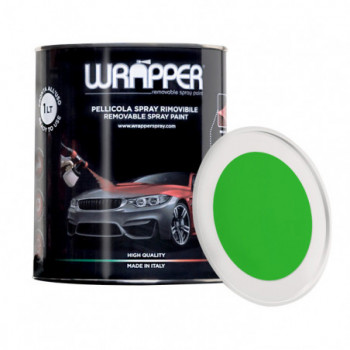 Verde Fluo Pellicola spray removibile 1 Litro Wrapper