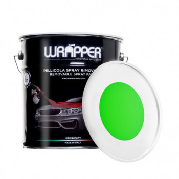 Verde Fluo Pellicola spray removibile 5 Litri Wrapper