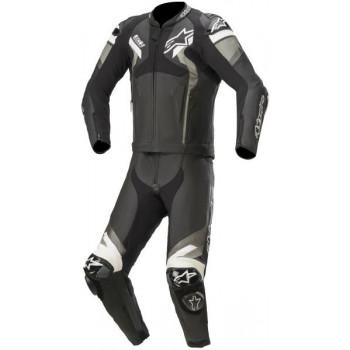 Alpinestars Atem V4 2-Piece Leather Suit Nero/grigio/bianco