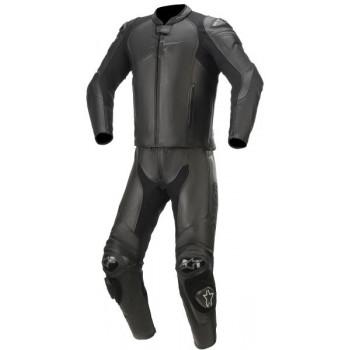 Alpinestars GP Plus V3 Graphite 2-Piece Leather Suit Nero