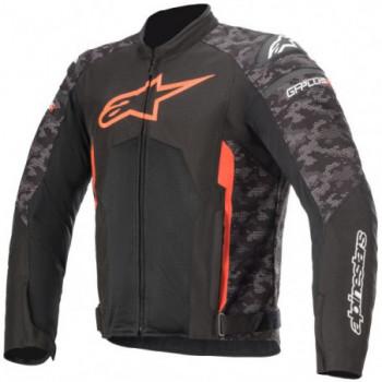 Alpinestars T-GP Plus R V3 Air Jacket Nero/camo/rosso fluo
