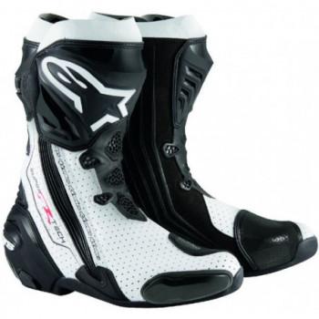 Alpinestars Supertech R BootsVented  Nero/bianco