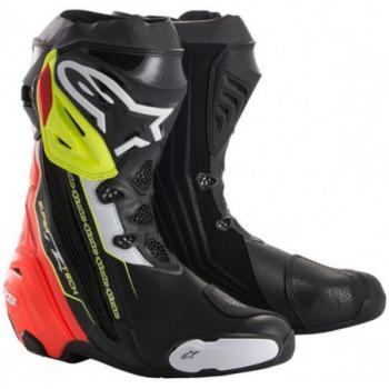 Alpinestars Supertech R Boots Nero/rosso/giallo fluo