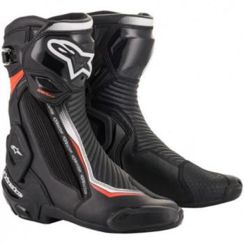 Alpinestars SMX Plus V2 Boots Nero/rosso/giallo fluo
