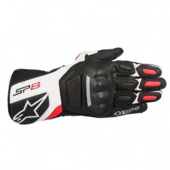 Alpinestars SP-8 V2 Gloves Nero/bianco/rosso