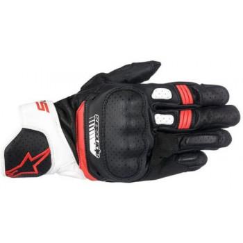 Alpinestars SP-5 Gloves Nero/bianco/rosso