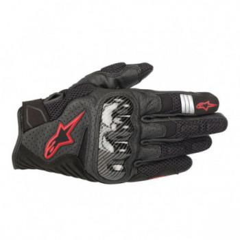 Alpinestars SMX-1 Air V2 Gloves Nero/rosso fluo