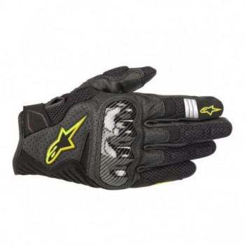 Alpinestars SMX-1 Air V2 Gloves Nero/giallo fluo