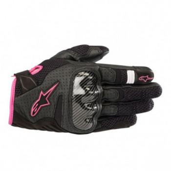 Alpinestars Stella SMX-1 Air V2 Womens Gloves Nero/rosa