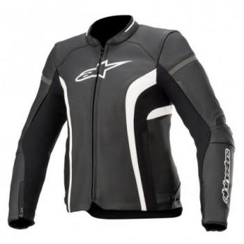 Alpinestars Stella Kira V2 Leather Jacket Nero/bianco