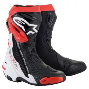 Alpinestars Supertech R V2 Boots Nero/bianco/rosso