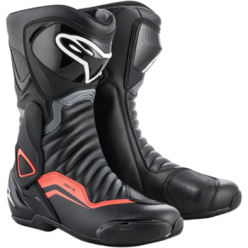 Alpinestars SMX-6 V2 Boots Nero/grigio/rosso fluo