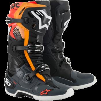 Alpinestars Tech 10 Cross Boots Nero/grigio/arancio/rosso...