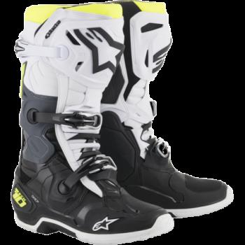 Alpinestars Tech 10 Cross Boots Nero/bianco/fluo
