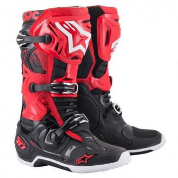 Alpinestars Tech 10 Cross Boots Nero/bianco/rosso