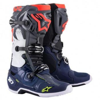 Alpinestars Tech 10 Cross Boots Dark Gray/Dark Blue/Red