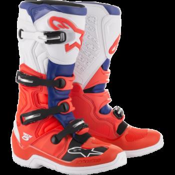 Alpinestars Tech 5 Cross Boots Rosso/blu/bianco