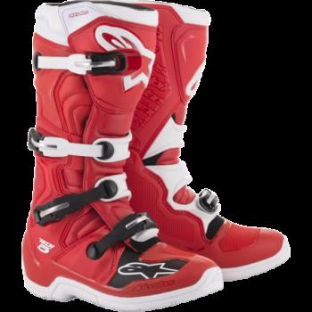 Alpinestars Tech 5 Cross Boots Rosso/bianco