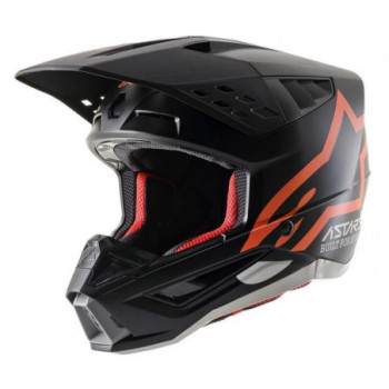 Alpinestars SM5 Compass Helmet Nero/arancio fluo