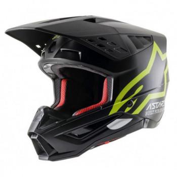 Alpinestars SM5 Compass Helmet Nero/giallo fluo