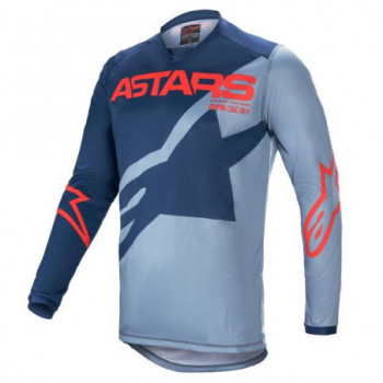 Alpinestars 2021 Racer Braap Jersey MX Shirt Blu/nero/rosso