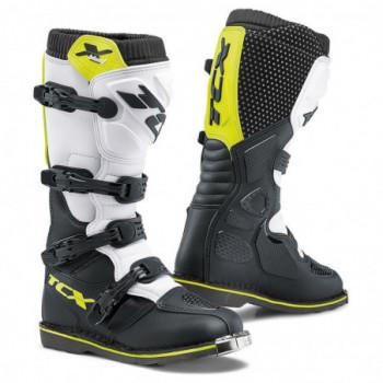 TCX X-Blast Cross Boots Bianco/nero/giallo fluo